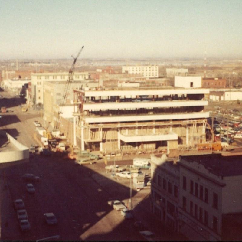 Cooper Plaza Theatres, Lincoln, NE. Building construction.
