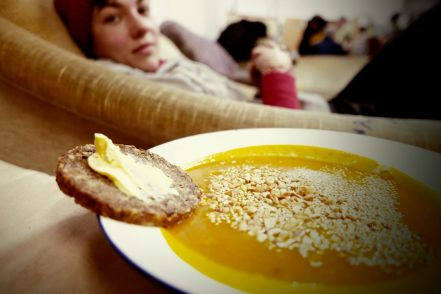 Delicious soup from our hosts