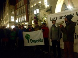 Joint demonstration with Greenpeace