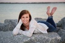 Girls High School Senior Portraits Barefoot
