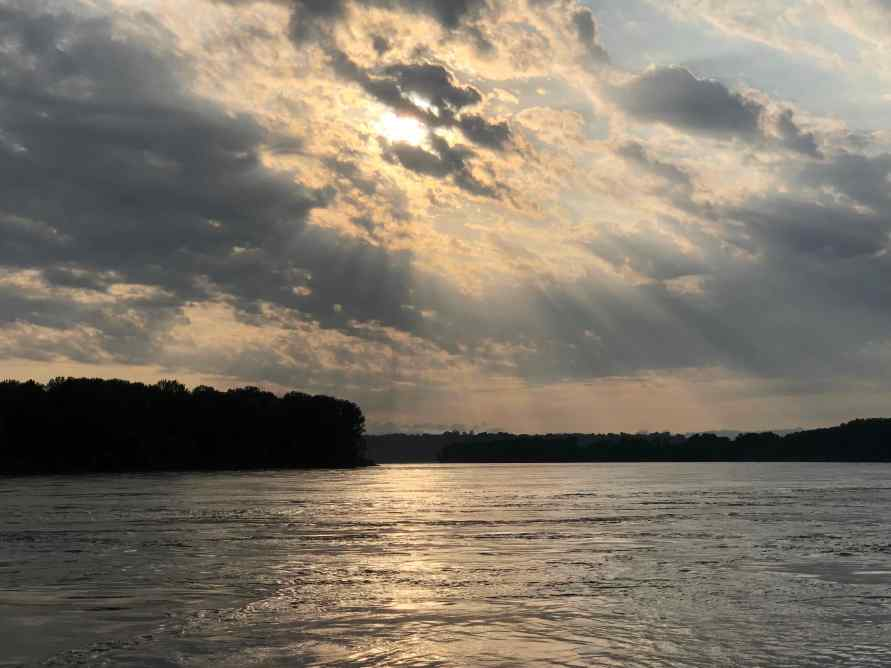 Missouri River at sunset