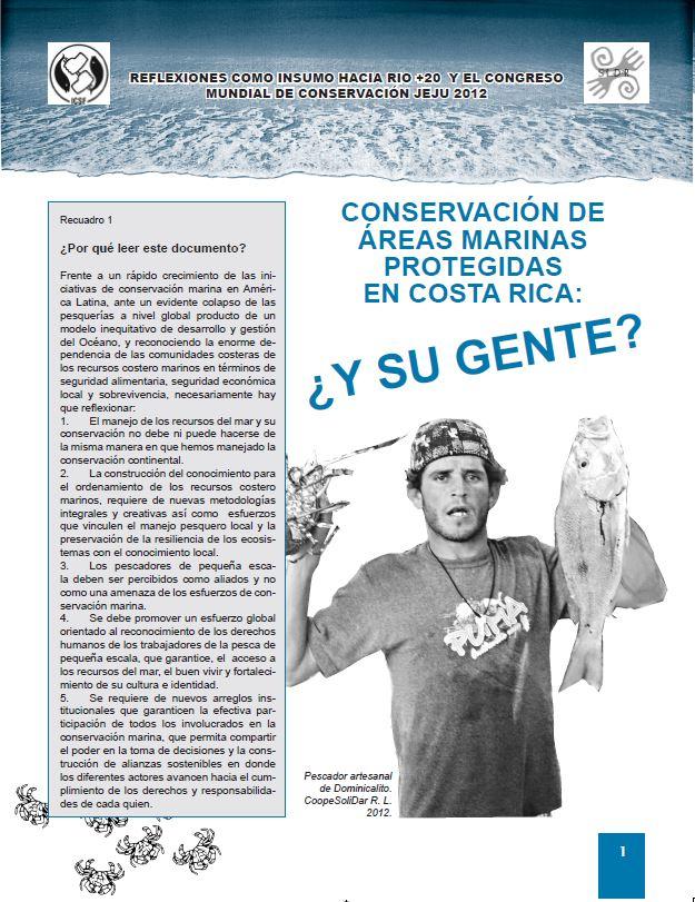 Conservación de Áreas Marinas Protegidas en Costa Rica