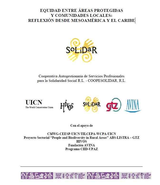 EQUIDAD ENTRE ÁREAS PROTEGIDAS Y COMUNIDADES LOCALES: REFLEXIÓN DESDE MESOAMÉRICA Y EL CARIBE