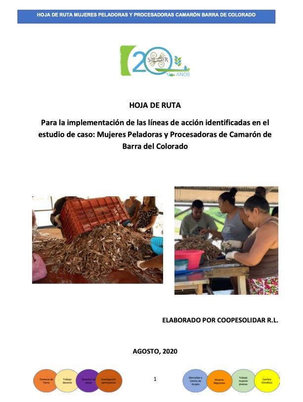HOJA DE RUTA: Mujeres Peladoras y Procesadoras de Camarón de Barra del Colorado