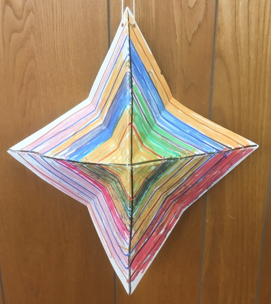 3D art. Four pointed super star!