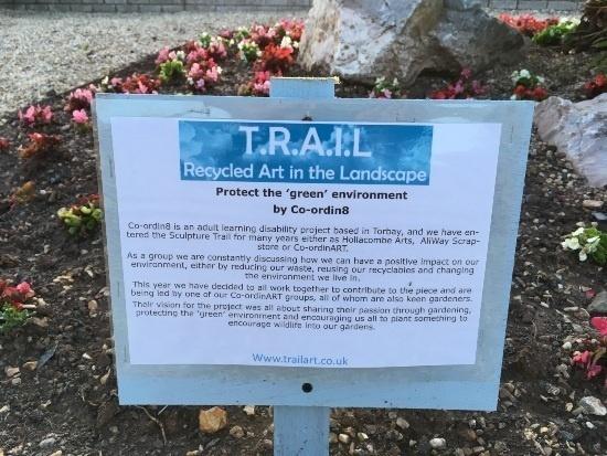 Teignmouth Sculpture Trail info board