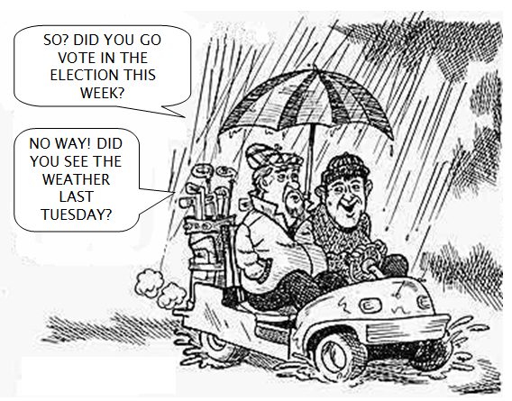 NO GOLF TONIGHT – RAIN OUT