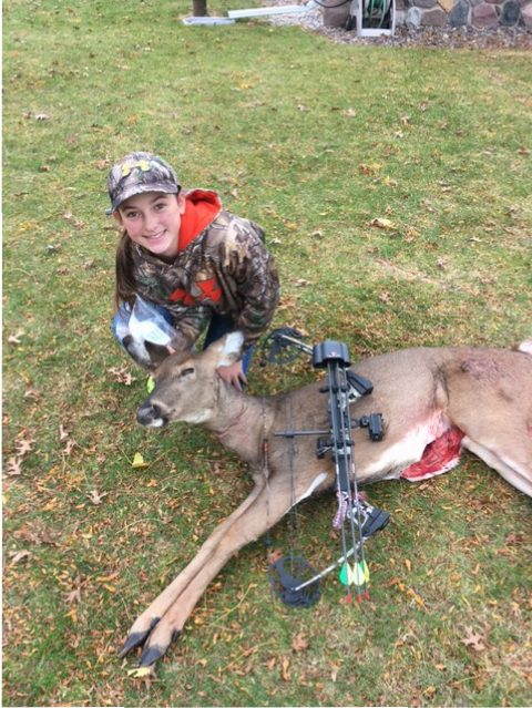 Kate's 1st deer with a bow