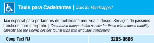 Táxi para Cadeirantes - Taxis for Handicapped