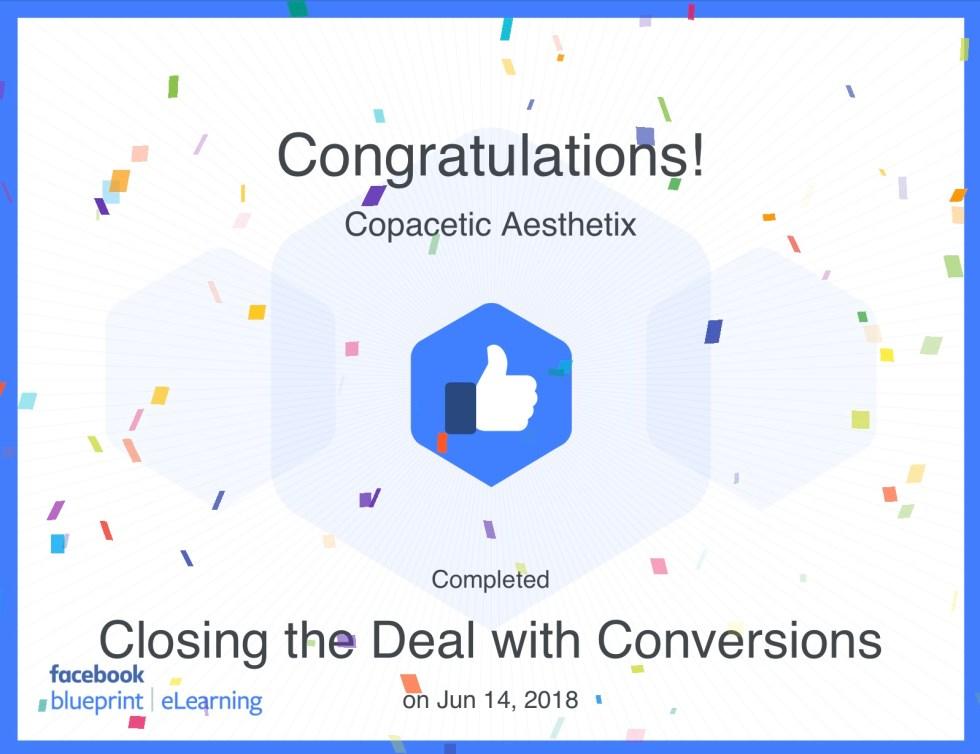 Conversions Certificate