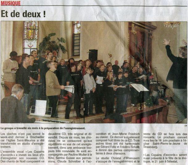 L'Alsace du 25 mai 2006
