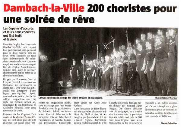 L'Alsace du 4 décembre 2006