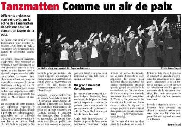 L'Alsace du 13 mai 2008