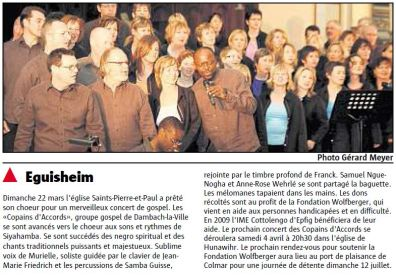 L'Alsace du 27 mars 2009
