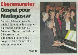 L'Alsace du 28 octobre 2010