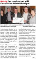 L'Alsace du 30 janvier 2011
