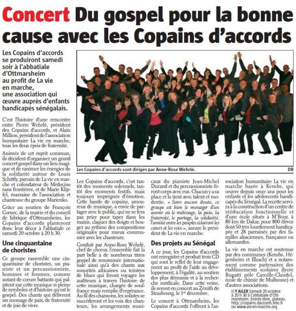 L'Alsace du 16 octobre 2012