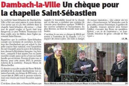 L'Alsace du 11 février 2013