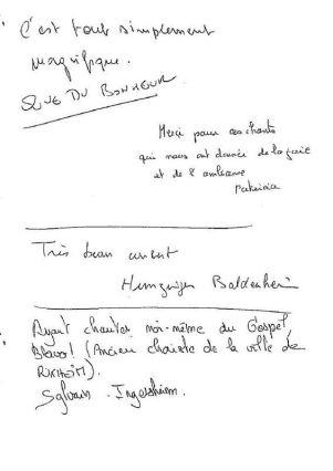 Livre d'Or - Page 2