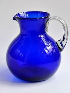 Big bola pitcher solid cobalt blue