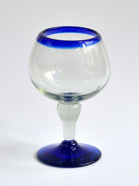 Bola glass 14 oz - Cobalt blue rim Image