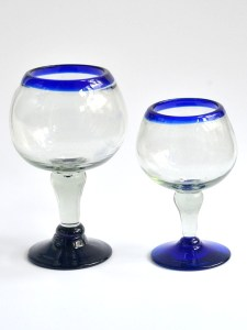 Bola glasses cobalt blue rim