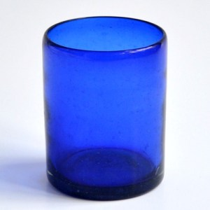 DOF glass solid cobalt blue