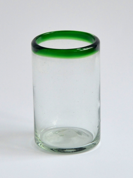 Juice glass 8 oz - Green rim Image