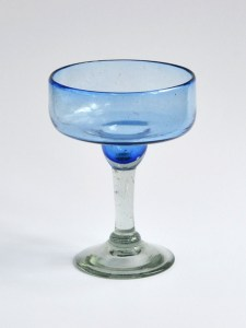 Margarita glass solid light blue