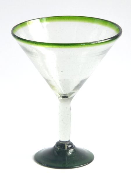 Martini Glass 12 oz - Green Rim Image