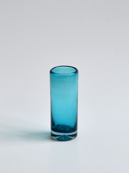 Tequila shot glass - Solid turquoise Image