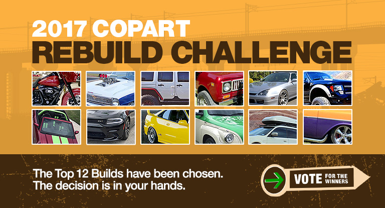 Vote for the Winners of the 2017 Copart Rebuild Challenge