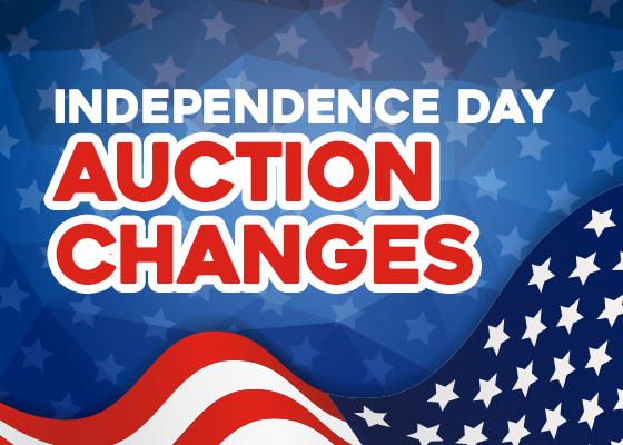 Independence Day Auction Changes