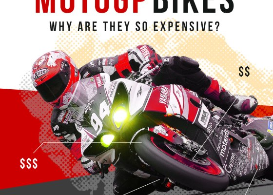 Moto GP bikes are expensive because their parts and the skills needed to utilize them are expensive.