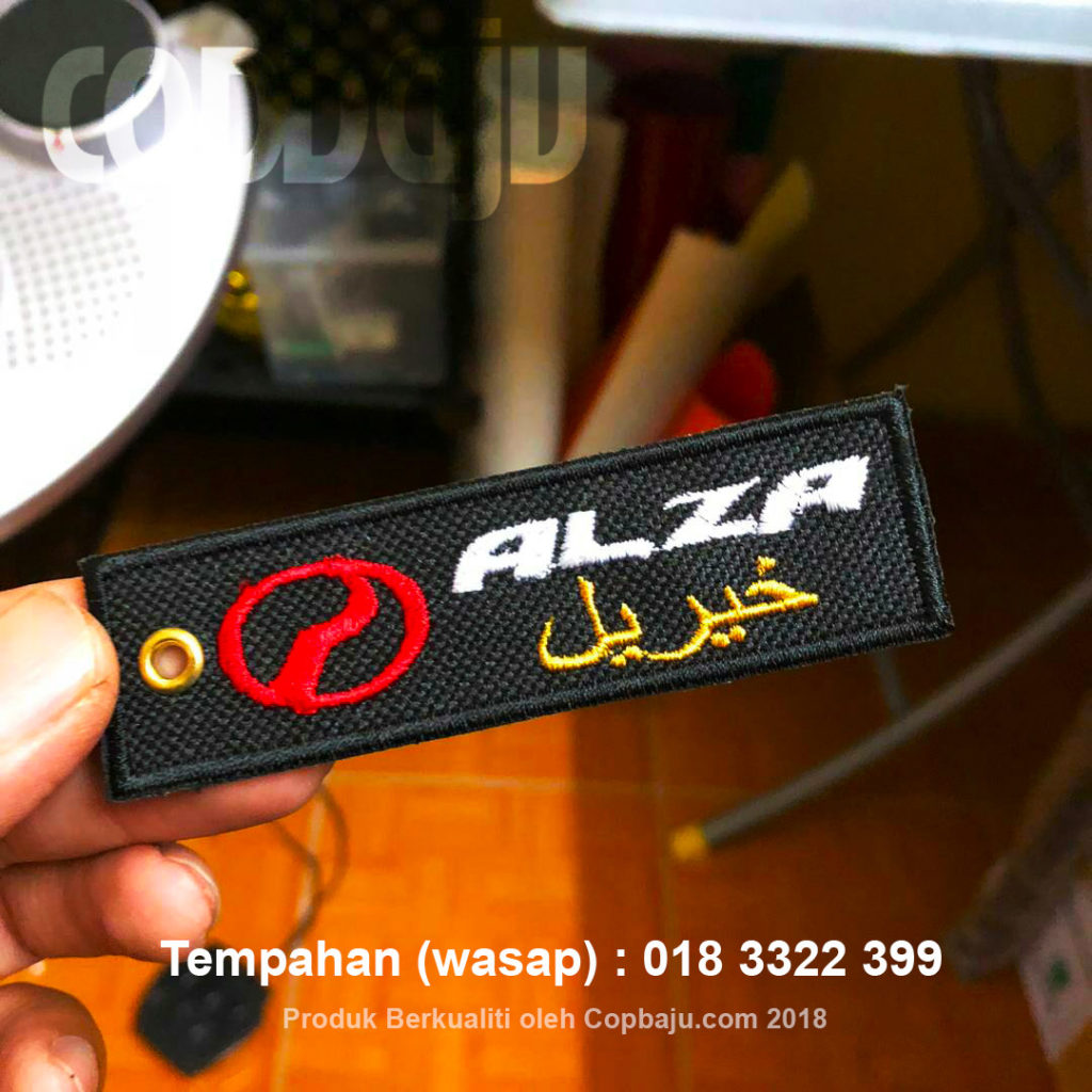Custom Keychain Sulam Kereta Motor Viral Perodua Alza