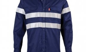 LS REFLECTIVE WORK SHIRT - NAVY
