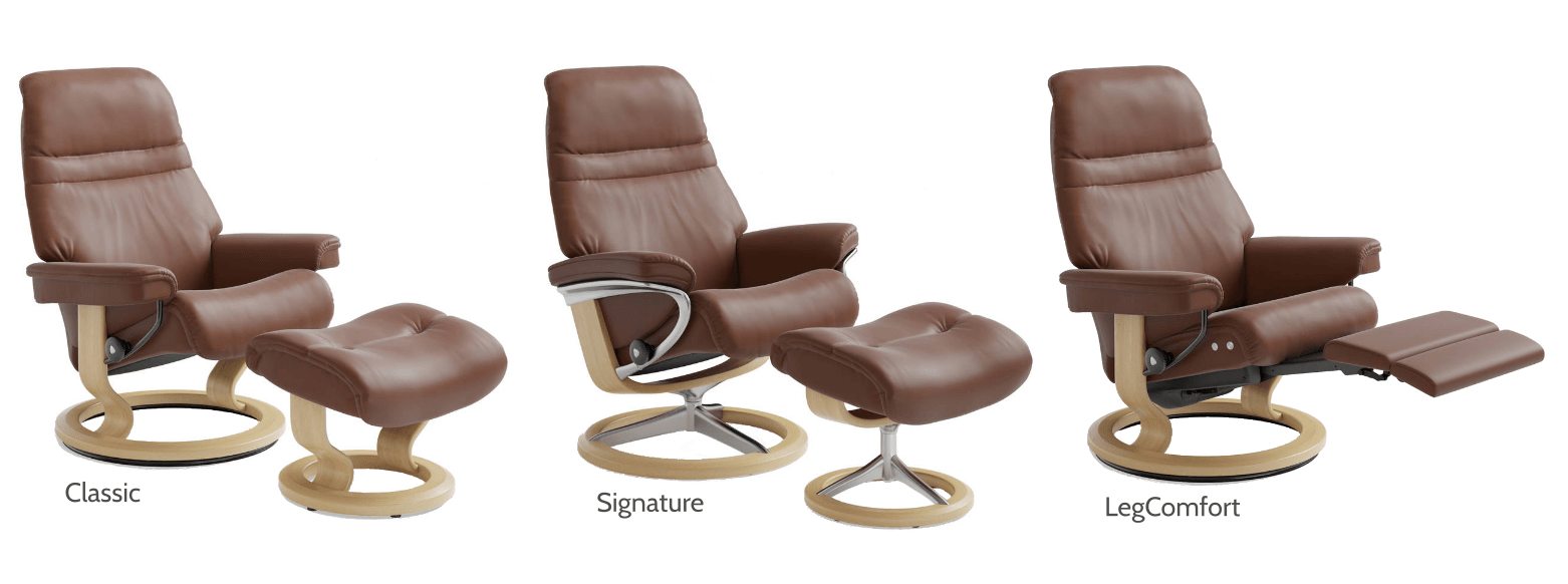 stressless chair sizes revolving in surat how to select the right recliner sarasota modern base options classic signature legcomfort