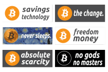 Bitcoin Sticker Set