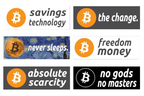 Bitcoin Sticker Set