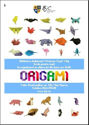 Invitație la Cercul de origami