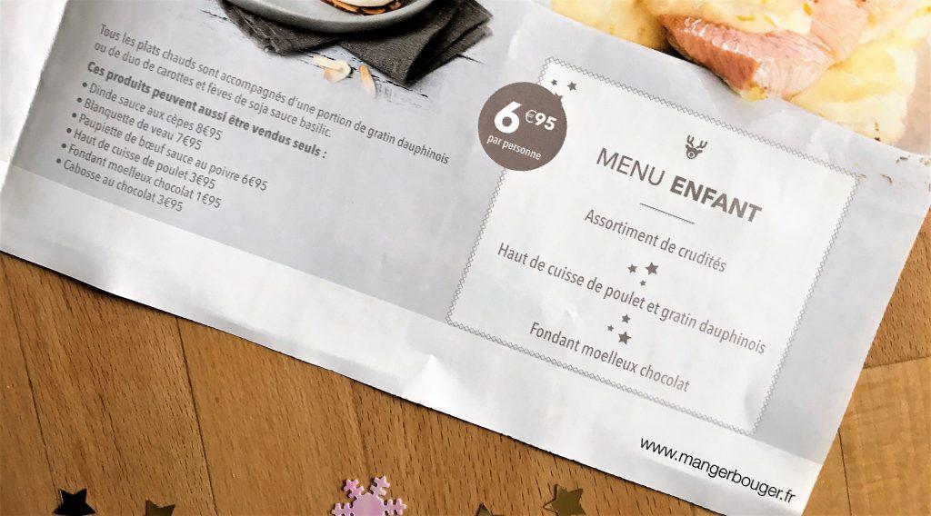 menus enfants repas noel flunch traiteur