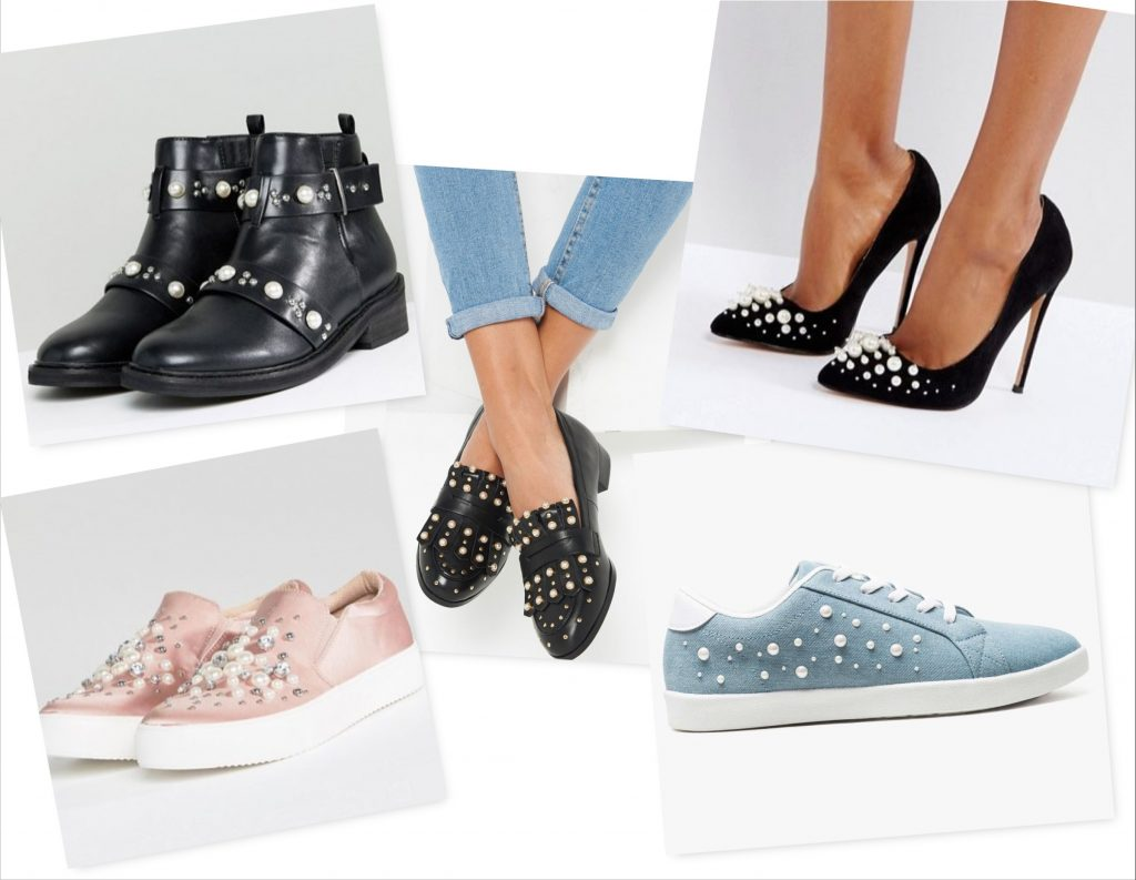 Chaussures fermees a perles