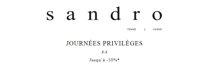 vente privee sandro journee privilege 2018