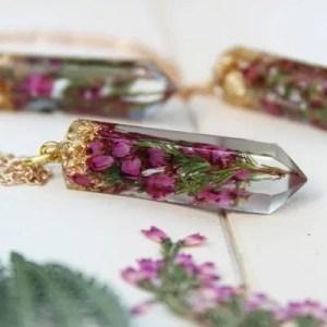 BLOOMSPOONS – Bijoux fleurs pressees