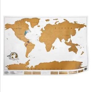 NATURE ET DECOUVERTES – Carte du monde à gratter