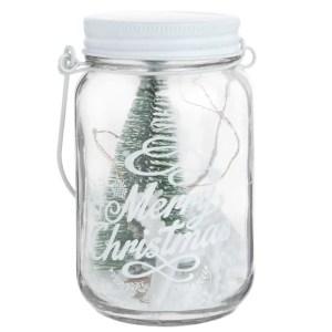 MAISONS DU MONDE – Bocal en verre décor sapin de Noël