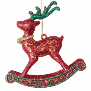 MAISONS DU MONDE – Suspension de Noël cheval à bascule à paillettes