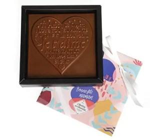 ATELIER DU CHOCOLAT – Coeur chocolat Je t'aime