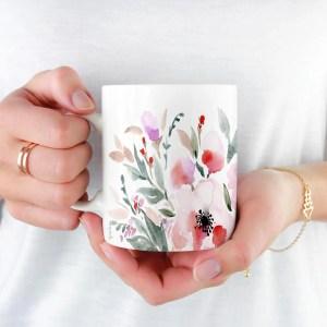 ETSY – Mug fleuri