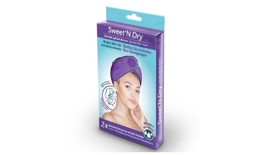 Serviette-microfibre-pour-cheveux-Sweet-N-Dry-Violet